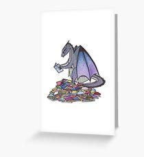Book Dragon Greeting Card