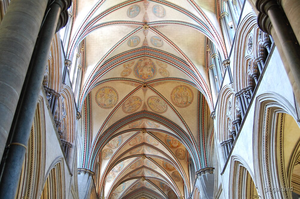 Salisbury Cathdral Ceiling by gingerbird