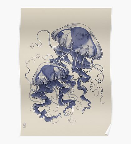 Jellyfish: In Bloom (Blue) Poster