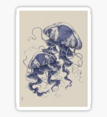 Jellyfish: In Bloom (Blue) Sticker