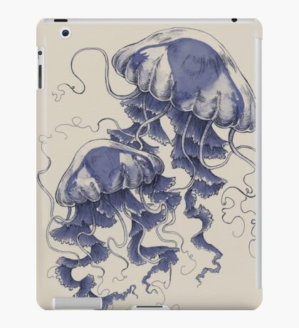 Jellyfish: In Bloom (Blue) iPad Case/Skin