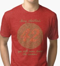 You will never know! Tri-blend T-Shirt