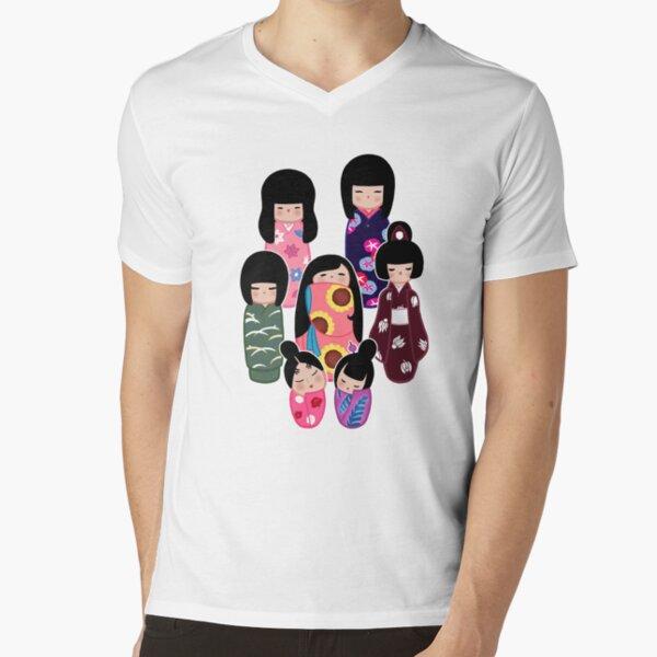 Kokeshi: Nature V-Neck T-Shirt