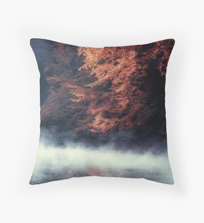 Nature*s Mirror - Fall at the River Throw Pillow