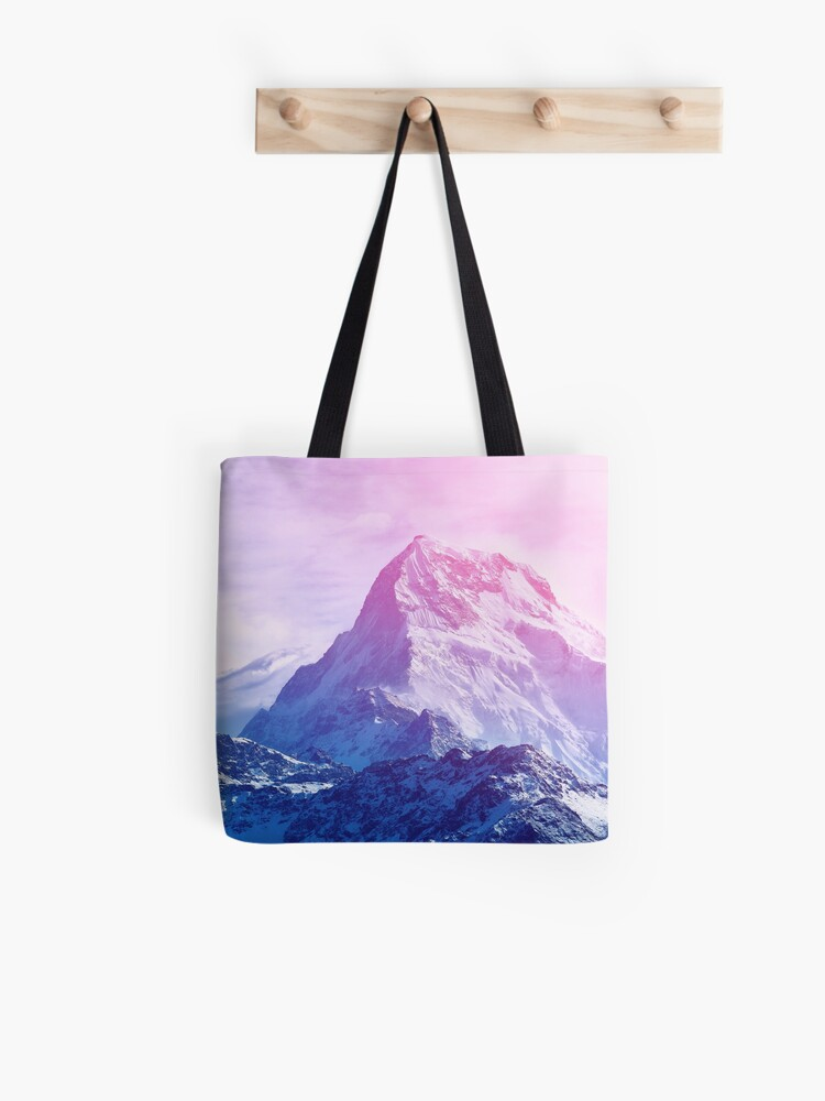 Drawstring Backpack Snow Mountain Scenery Bags