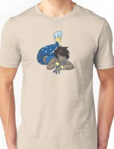 Cute Funny Cartoon MermaidCharacter Doodle Animal Drawing Unisex T-Shirt