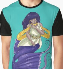 Cute Cartoon Mermaid Graphic T-Shirt