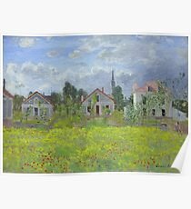 Claude Monet - Houses At Argenteuil, 1873 Poster
