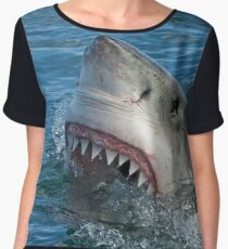 Great White Shark  Chiffon Top
