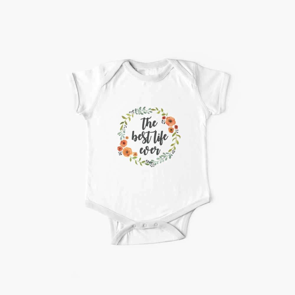 Blumen Krone der besten Live-je Baby Body
