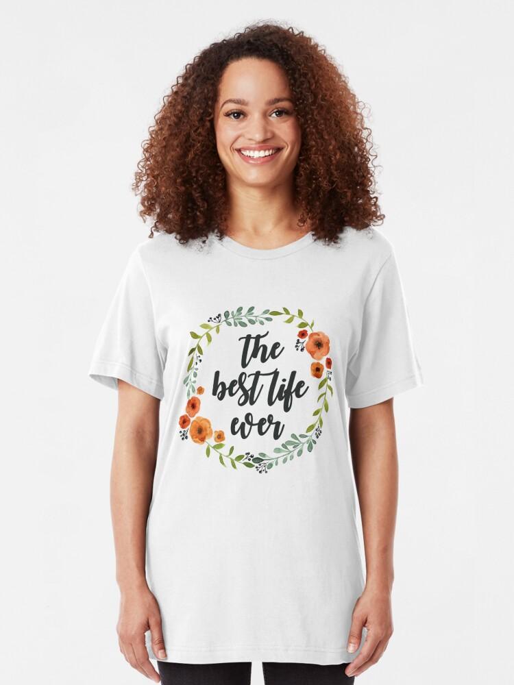 Alternative Ansicht von Blumen Krone der besten Live-je Slim Fit T-Shirt