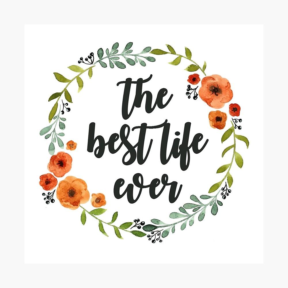 Blumen Krone der besten Live-je Fotodruck