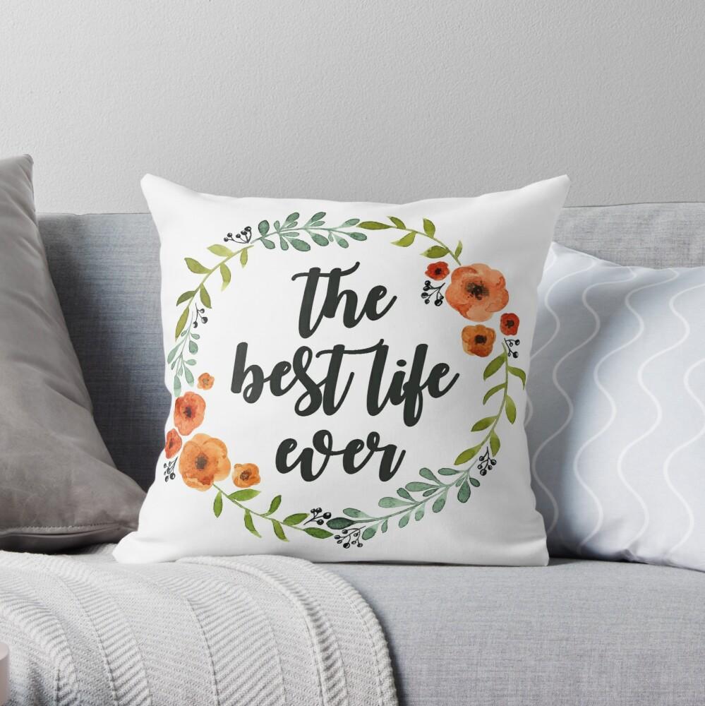 Blumen Krone der besten Live-je Dekokissen