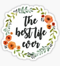 Corona flowers the best live ever Sticker