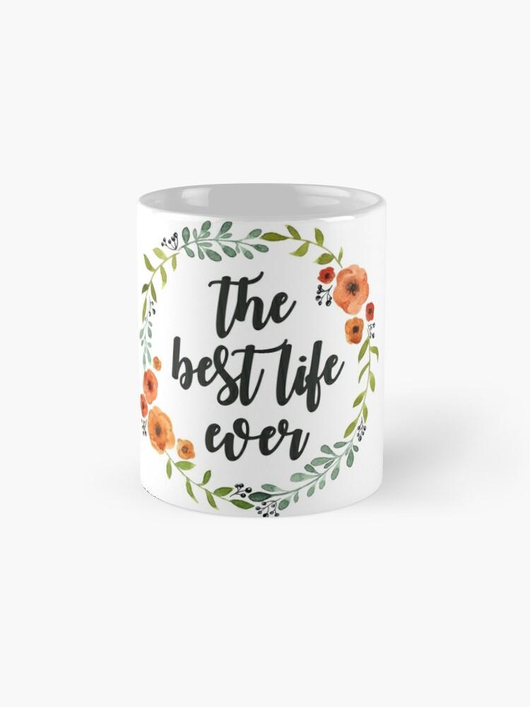 Alternative Ansicht von Blumen Krone der besten Live-je Tasse