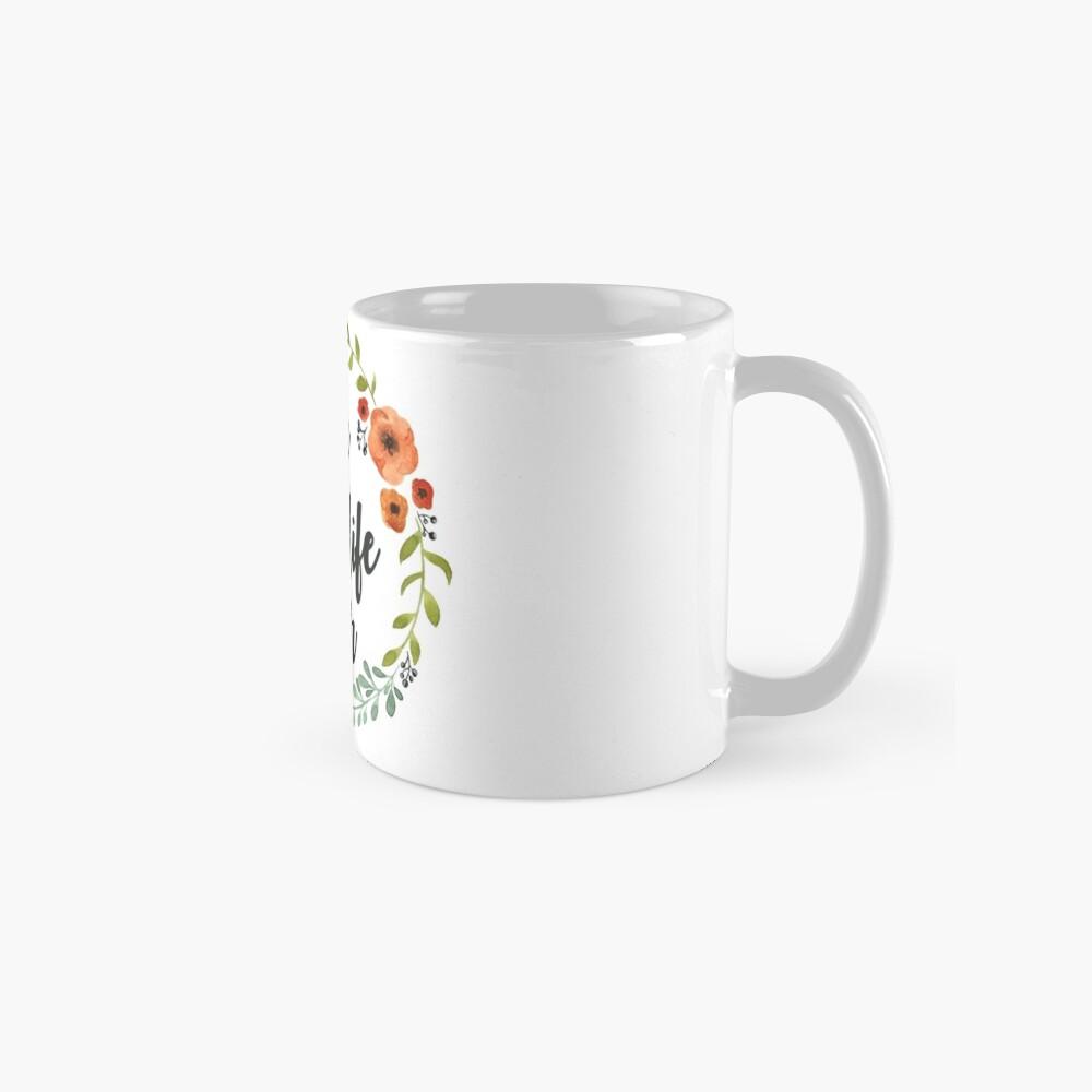 Blumen Krone der besten Live-je Tasse