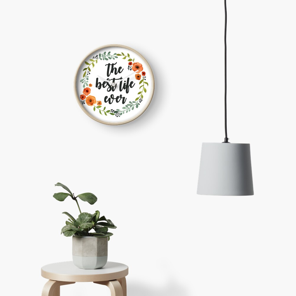 Blumen Krone der besten Live-je Uhr