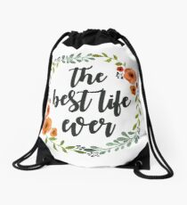Corona flowers the best live ever Drawstring Bag