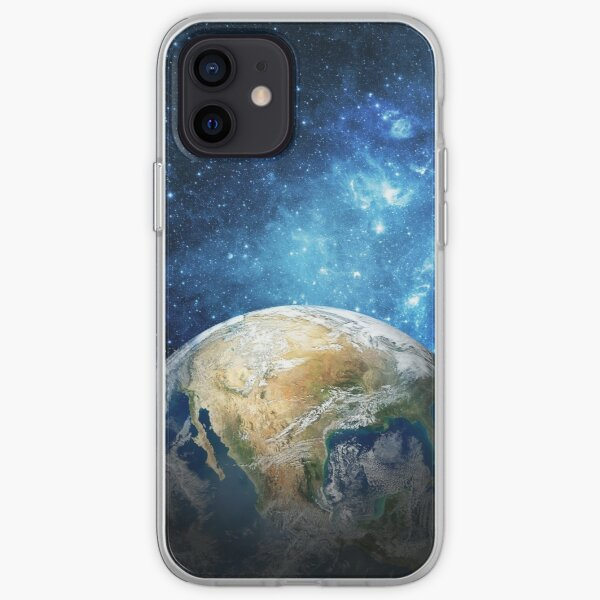 Planet Earth from Space theme. iPhone Soft Case