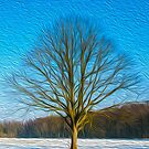 Tree in Amsterdamse bos oil painting effect by funkyworm