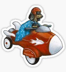 Elvis Flies for K9 Air Sticker