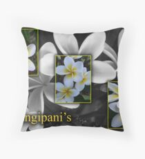 Frangipani's Throw Pillow