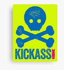 KICKASS - SKULL AND CROSSBONES GRAPHIC Canvas Print