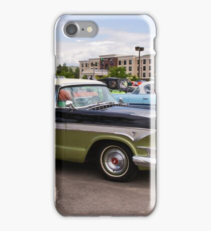 Sisters (1957 Hudson Hornets, side by side) iPhone Case/Skin