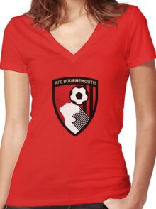AFC Bournemouth Women's Fitted V-Neck T-Shirt
