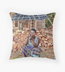Ugandan Market II Throw Pillow
