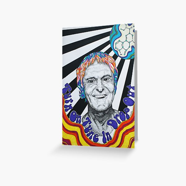 Timothy Leary Greeting Card