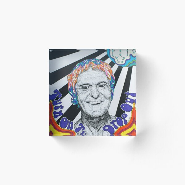Timothy Leary Acrylic Block