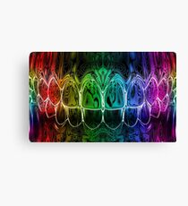 Colorful Dental Art Perfect Teeth Bite Graphic Design Canvas Print