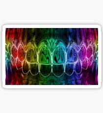 Colorful Dental Art Perfect Teeth Bite Graphic Design Sticker