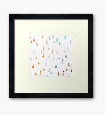 Ink drops Framed Print