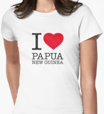 I ♥ PAPUA NEW GUINEA Women's Fitted T-Shirt