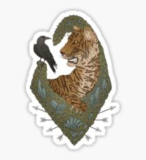 TIGER AND THE CROW - DULL Sticker