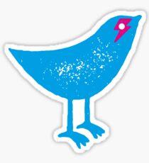 BOWIE BIRD - SPARROW WITH ZIGGY LIGHTNING BOLT Sticker