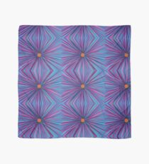 Linda's Flower - Abstract Hand Drawn Flower Purple Blue Repeat Pattern Scarf