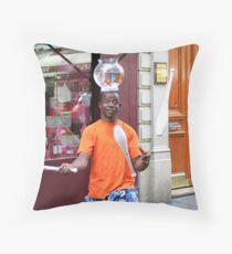 juggling goldfish Throw Pillow