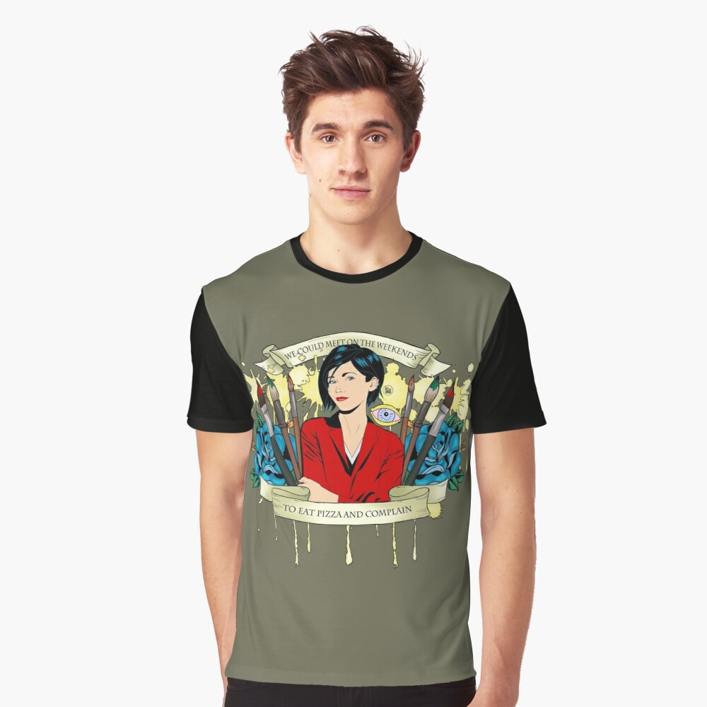 Jane Lane - Weekends Pizza Graphic T-Shirt