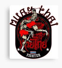 Muay Thai Fighter Canvas Print