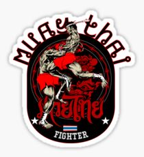 Muay Thai Fighter Sticker