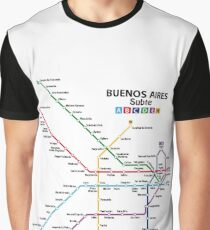 BUENOS AIRES Metro (Subte) Network Graphic T-Shirt