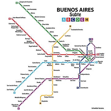 BUENOS AIRES Metro (Subte) Network by UrbanRail