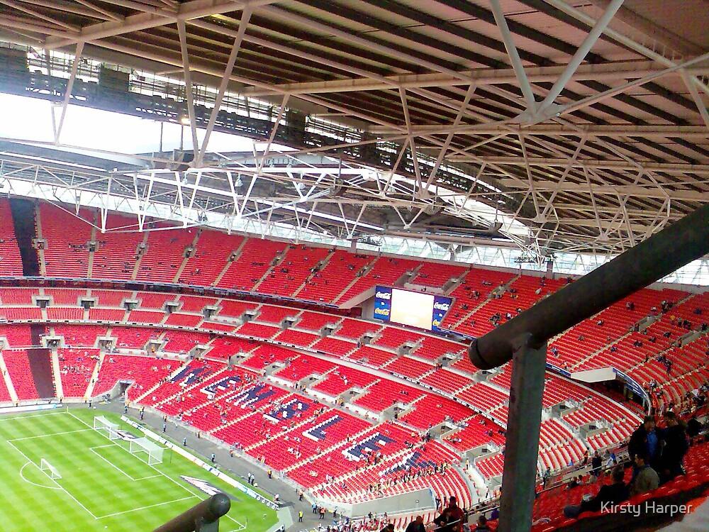 Inside Wembley Stadium by Kirsty Harper