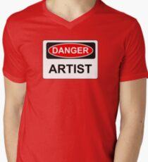 Danger Artist - Warning Sign T-Shirt