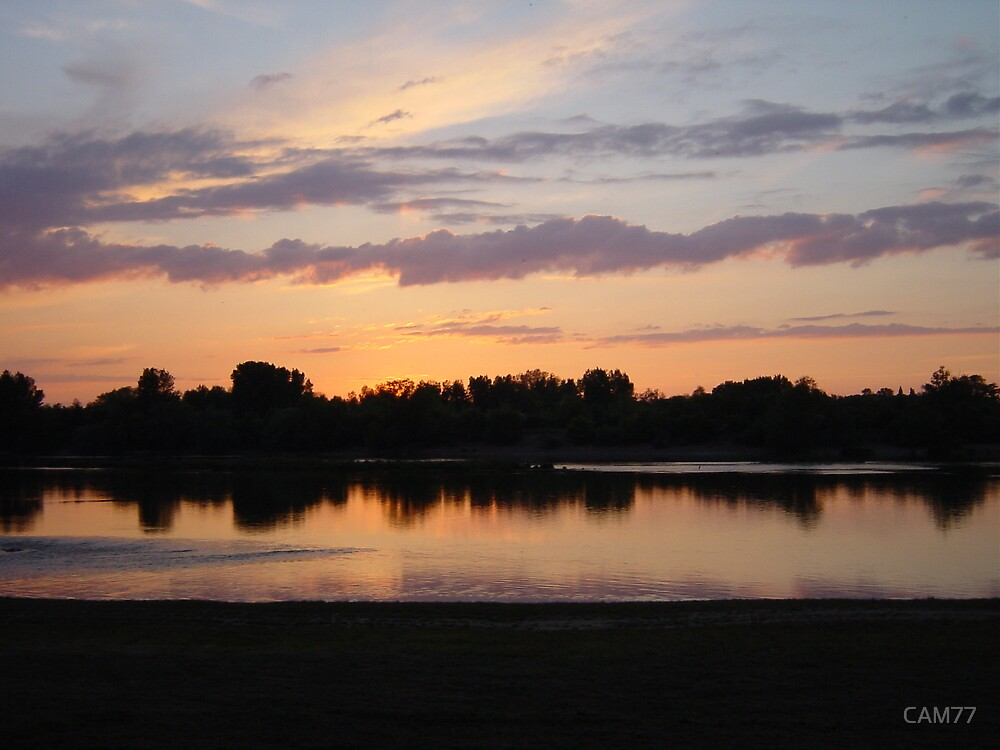 Sun setting over the Loire Valley, France by CAM77