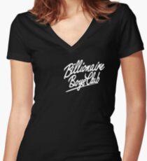 billionaire boys club 2 Women's Fitted V-Neck T-Shirt