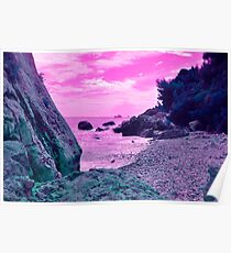 pink beach tropical Poster
